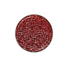Red Box Background Pattern Hat Clip Ball Marker (4 Pack)