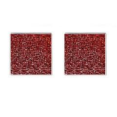 Red Box Background Pattern Cufflinks (square) by Nexatart