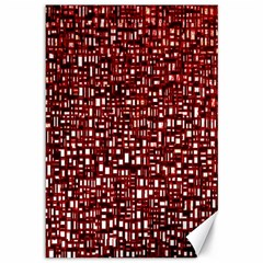 Red Box Background Pattern Canvas 12  X 18   by Nexatart