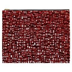 Red Box Background Pattern Cosmetic Bag (xxxl)  by Nexatart