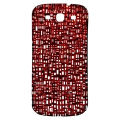 Red Box Background Pattern Samsung Galaxy S3 S Iii Classic Hardshell Back Case by Nexatart