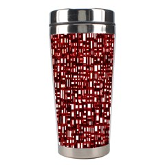 Red Box Background Pattern Stainless Steel Travel Tumblers