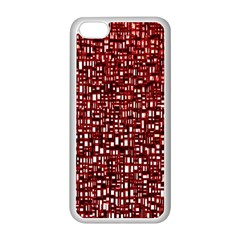 Red Box Background Pattern Apple Iphone 5c Seamless Case (white)