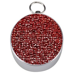 Red Box Background Pattern Silver Compasses