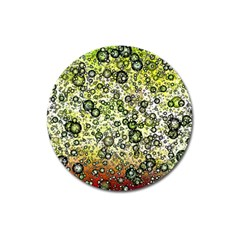Chaos Background Other Abstract And Chaotic Patterns Magnet 3  (round) by Nexatart