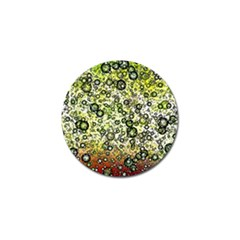 Chaos Background Other Abstract And Chaotic Patterns Golf Ball Marker (4 Pack) by Nexatart