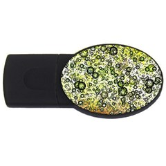 Chaos Background Other Abstract And Chaotic Patterns Usb Flash Drive Oval (4 Gb)