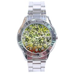 Chaos Background Other Abstract And Chaotic Patterns Stainless Steel Analogue Watch