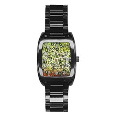 Chaos Background Other Abstract And Chaotic Patterns Stainless Steel Barrel Watch