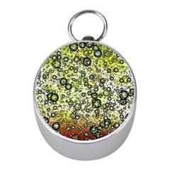 Chaos Background Other Abstract And Chaotic Patterns Mini Silver Compasses by Nexatart