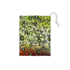 Chaos Background Other Abstract And Chaotic Patterns Drawstring Pouches (small)