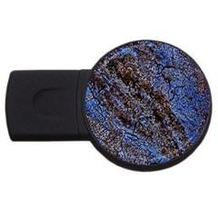 Cracked Mud And Sand Abstract Usb Flash Drive Round (2 Gb) by Nexatart