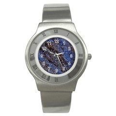 Cracked Mud And Sand Abstract Stainless Steel Watch