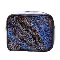 Cracked Mud And Sand Abstract Mini Toiletries Bags by Nexatart
