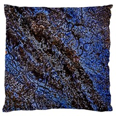 Cracked Mud And Sand Abstract Large Cushion Case (one Side)