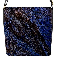 Cracked Mud And Sand Abstract Flap Messenger Bag (s)