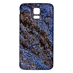 Cracked Mud And Sand Abstract Samsung Galaxy S5 Back Case (white) by Nexatart