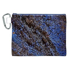 Cracked Mud And Sand Abstract Canvas Cosmetic Bag (xxl) by Nexatart