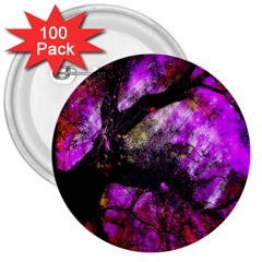 Pink Abstract Tree 3  Buttons (100 Pack)  by Nexatart