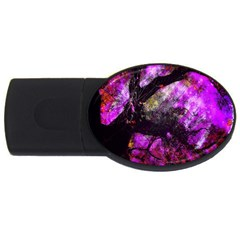 Pink Abstract Tree Usb Flash Drive Oval (2 Gb) by Nexatart