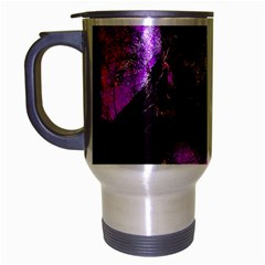 Pink Abstract Tree Travel Mug (silver Gray) by Nexatart