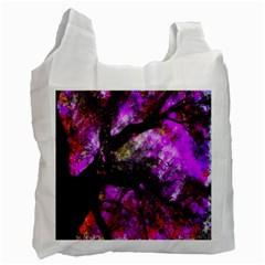 Pink Abstract Tree Recycle Bag (two Side)  by Nexatart
