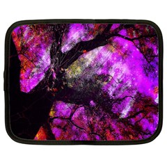 Pink Abstract Tree Netbook Case (xxl)