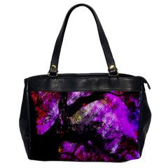 Pink Abstract Tree Office Handbags by Nexatart