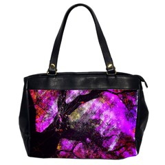 Pink Abstract Tree Office Handbags (2 Sides)  by Nexatart