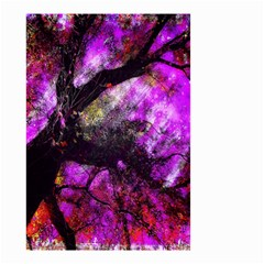 Pink Abstract Tree Small Garden Flag (two Sides) by Nexatart