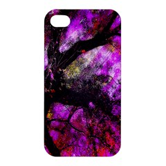 Pink Abstract Tree Apple Iphone 4/4s Premium Hardshell Case by Nexatart
