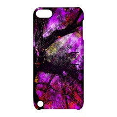 Pink Abstract Tree Apple Ipod Touch 5 Hardshell Case With Stand by Nexatart