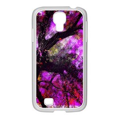 Pink Abstract Tree Samsung Galaxy S4 I9500/ I9505 Case (white) by Nexatart