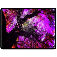 Pink Abstract Tree Double Sided Fleece Blanket (large)  by Nexatart