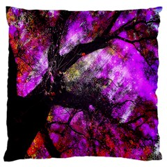 Pink Abstract Tree Large Flano Cushion Case (one Side)