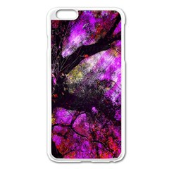 Pink Abstract Tree Apple Iphone 6 Plus/6s Plus Enamel White Case