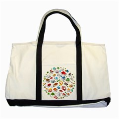 Urban Pattern  Two Tone Tote Bag by Alexprintshop