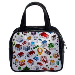Urban Pattern  Classic Handbags (2 Sides) by Alexprintshop