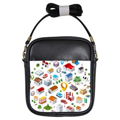 Urban Pattern  Girls Sling Bags by Alexprintshop