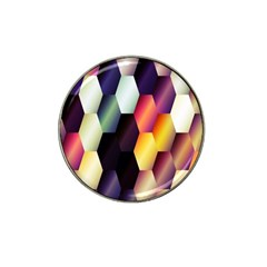 Colorful Hexagon Pattern Hat Clip Ball Marker (10 Pack) by Nexatart