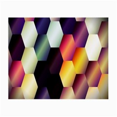 Colorful Hexagon Pattern Small Glasses Cloth by Nexatart