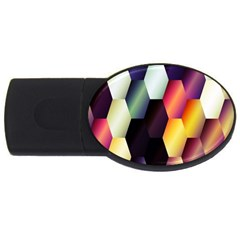 Colorful Hexagon Pattern Usb Flash Drive Oval (4 Gb) by Nexatart