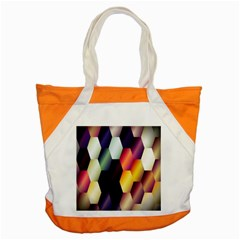 Colorful Hexagon Pattern Accent Tote Bag by Nexatart
