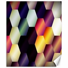 Colorful Hexagon Pattern Canvas 8  X 10  by Nexatart