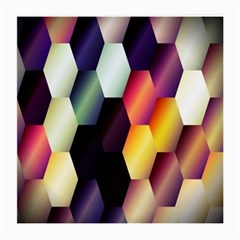 Colorful Hexagon Pattern Medium Glasses Cloth (2 Side) by Nexatart