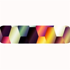 Colorful Hexagon Pattern Large Bar Mats
