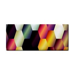 Colorful Hexagon Pattern Cosmetic Storage Cases by Nexatart