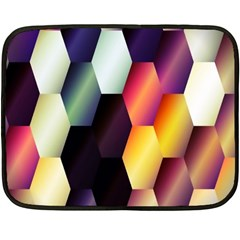 Colorful Hexagon Pattern Double Sided Fleece Blanket (mini)  by Nexatart