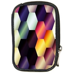 Colorful Hexagon Pattern Compact Camera Cases by Nexatart