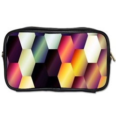 Colorful Hexagon Pattern Toiletries Bags 2 Side by Nexatart